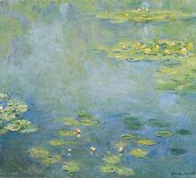 Claude Monet - Waterlilies (c.1906) by famousartworks