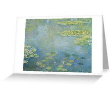 Claude Monet - Waterlilies. Impressionism Greeting Card
