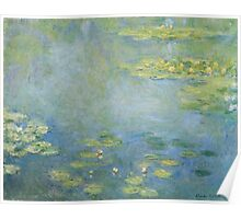 Claude Monet - Waterlilies. Impressionism Poster