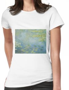 Claude Monet - Waterlilies. Impressionism Womens Fitted T-Shirt