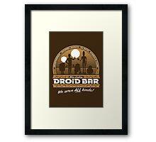 Droid Bar Framed Print
