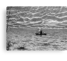 eager fisherman Canvas Print