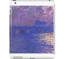 Claude Monet - Waterloo Bridge.  Sunlight Effect , Impressionism iPad Case/Skin