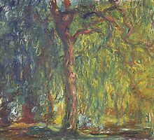 Claude Monet - Weeping Willow (1918–19) by famousartworks