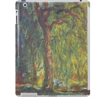 Claude Monet - Weeping Willow , Impressionism) iPad Case/Skin