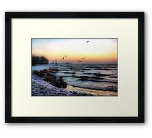 A Cold Stormy Morning Framed Print