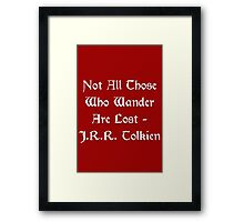 Lord of the Rings - Tolkien Quote Framed Print