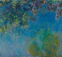 Claude Monet - Wisteria (circa 1925) by famousartworks