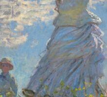 Claude Monet - Woman with a Parasol - Madame Monet and Her Son (1875) Impressionism Sticker