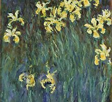 Claude Monet - Yellow Irises (c. 1914 - c. 1917) by famousartworks