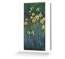 Claude Monet - Yellow Irises (c. 1914 - c. 1917)  Impressionism Greeting Card