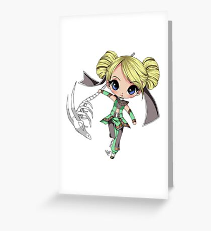 Chibi Warrior Greeting Card