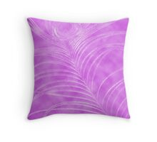 Peacock Feather on Lilac Throw Pillow