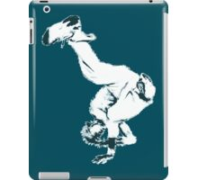 Breakdancer in blue iPad Case/Skin