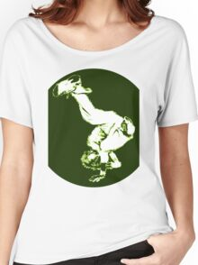 Breakdancer in green Women's Relaxed Fit T-Shirt
