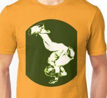 Breakdancer in green Unisex T-Shirt