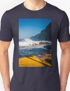 amazing big waves of ocean in Maderia T-Shirt