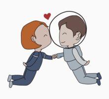 Space Nerds in Love Kids Tee