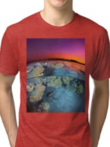 Dusk at the Red Sea Reef Tri-blend T-Shirt