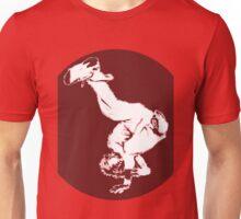 Breakdancer in red Unisex T-Shirt