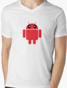 Deaddroid Mens V-Neck T-Shirt