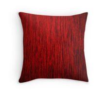 Red Grunge Woodgrain Throw Pillow
