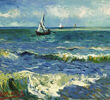 Vincent Van Gogh - Sea at Les Saintes Maries de la Mer by lifetree