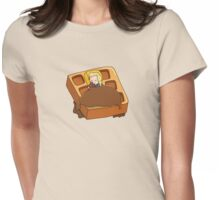 Leslie Knope + Giant Waffle Womens Fitted T-Shirt