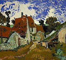Vincent Van Gogh - Street in Auvers sur Oise by lifetree