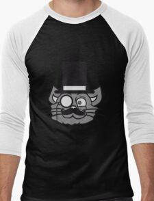 face head sir mr mustache monocle glasses cylinder hat kitten gentlemen sweet cute cat T-Shirt