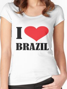 I LOVE BRAZIL Women's Fitted Scoop T-Shirt