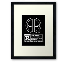 Bad Hero Framed Print