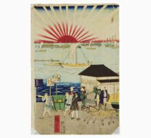 Hiroshige Utagawa - Famous Places In Tokyo 4 - 1870 - Woodcut One Piece - Long Sleeve