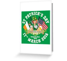 St Patricks Day Celebrations - City Of Pittsburgh Greeting Card
