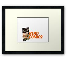 Read Comics Framed Print