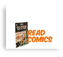 Read Comics Canvas Print
