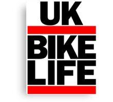 Run UK Bike Life DMC Style Moped Bikelife Motorcycle Gang Red & Black Logo Canvas Print