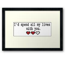 Geeky Valentine Framed Print