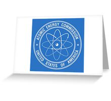 Atomic Energy Commission #2 (White) Greeting Card