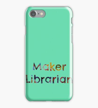 Maker Librarian iPhone Case/Skin