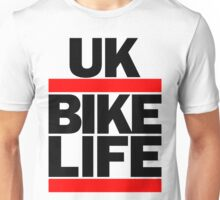 Run UK Bike Life DMC Style Moped Bikelife Motorcycle Gang Red & Black Logo Unisex T-Shirt