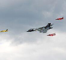 Vulcan bomber and Gnats by David Fowler