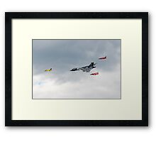 Vulcan bomber and Gnats Framed Print