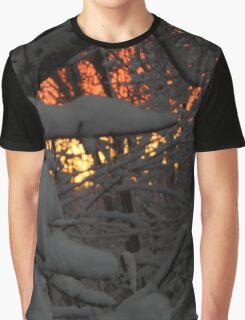 Snowy Sunset #5995 Graphic T-Shirt