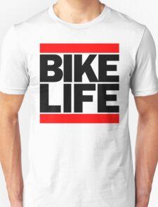 Run Bike Life DMC Style Moped Bikelife Motorcycle Gang Red & Black Logo T-Shirt