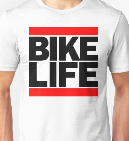 Run Bike Life DMC Style Moped Bikelife Motorcycle Gang Red & Black Logo Unisex T-Shirt