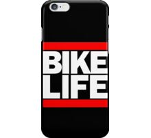 Run Bike Life DMC Style Moped Bikelife Motorcycle Gang Red & White Logo iPhone Case/Skin