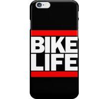 Run Bike Life DMC Style Moped Bikelife Motorcycle Gang Red & White Logo iPhone Case/Skin
