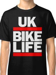 Run UK Bike Life DMC Style Moped Bikelife Motorcycle Gang Red & White Logo Classic T-Shirt