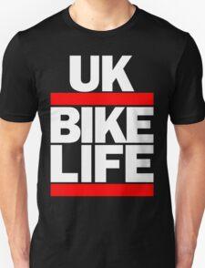 Run UK Bike Life DMC Style Moped Bikelife Motorcycle Gang Red & White Logo T-Shirt